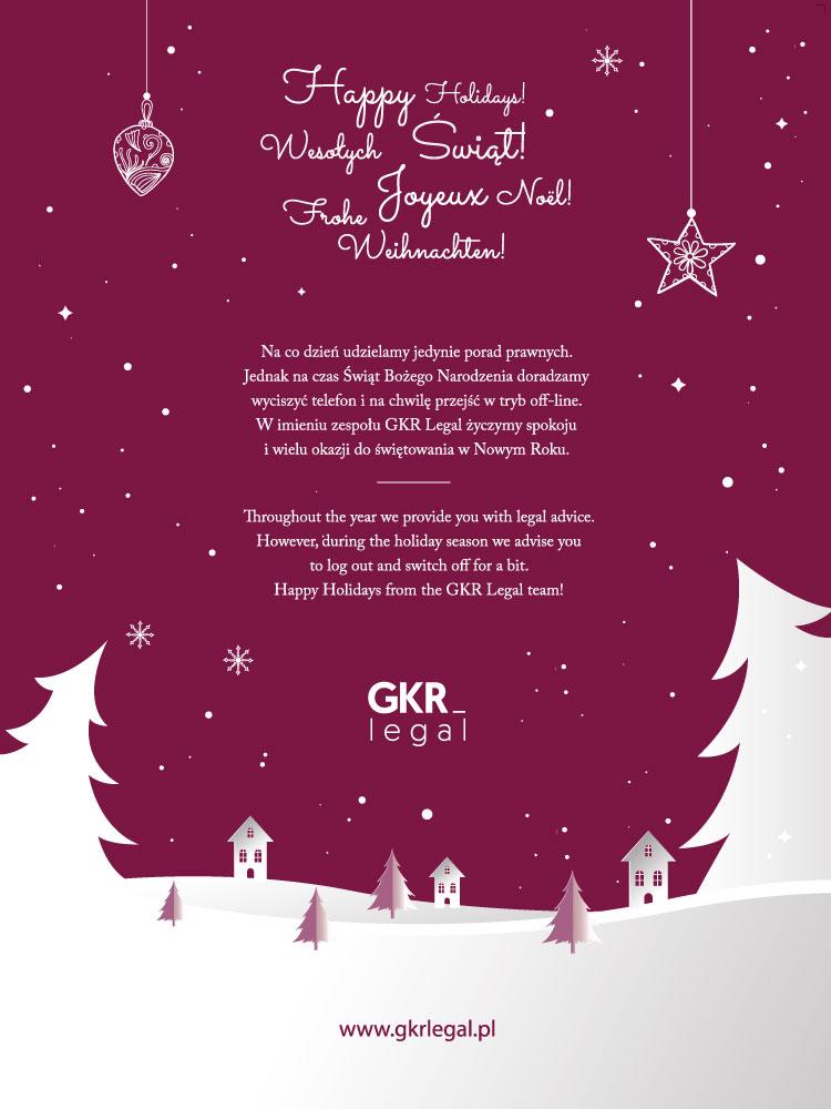 GKR Legal Kartka Świąteczna
